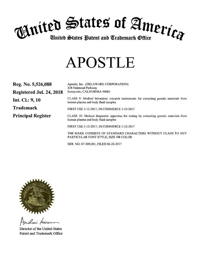 Apostle - a Liquid Biopsy Company
