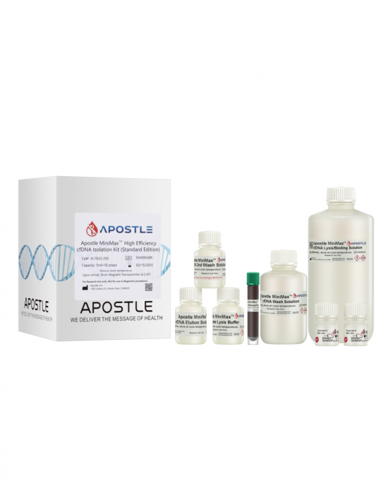 Apostle MiniMax High Efficiency Cell-Free DNA Isolation Kit (100uL x 6000 preps, Standard Edition)