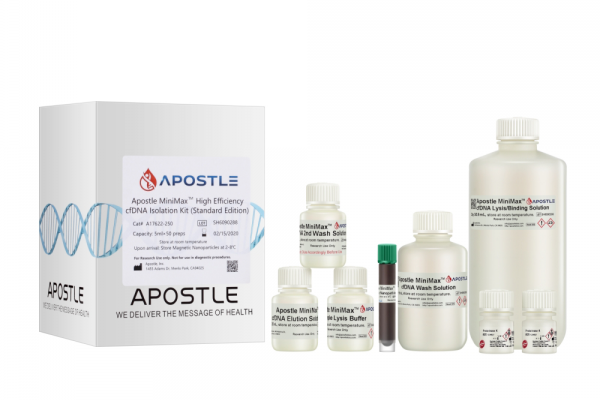 Apostle MiniMax High Efficiency Cell-Free DNA Isolation Kit (5mL x 50 preps, Standard Edition)