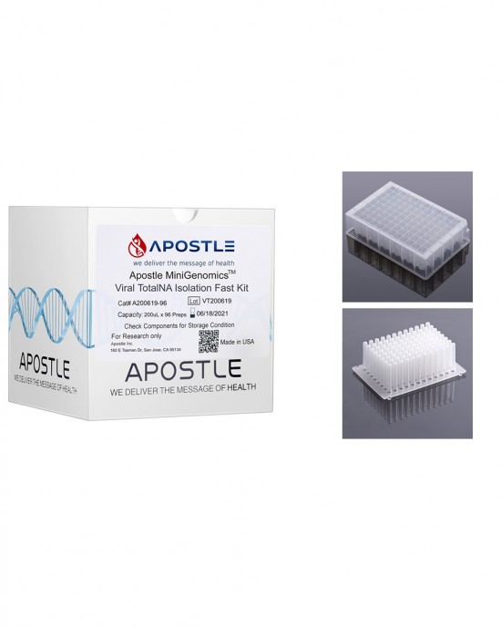 Apostle MiniGenomics Viral Total NA Isolation Kit (384 preps), with Plates & Tip Comb Included
